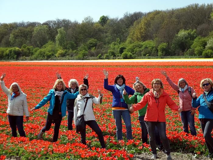 Radtour zu den Tulpenfeldern