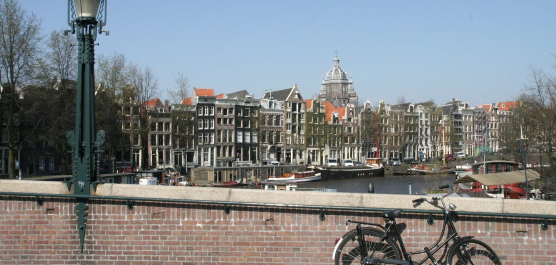 bridge over Oude Waal in Amsterdam