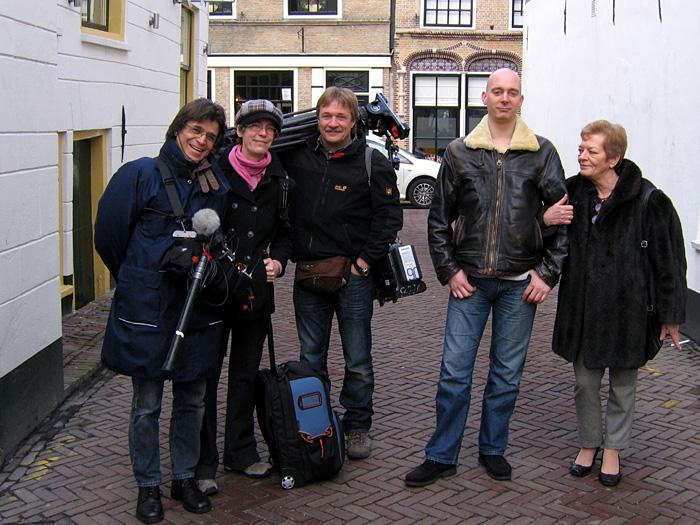 Dreharbeiten in Oudewater (Utrecht).