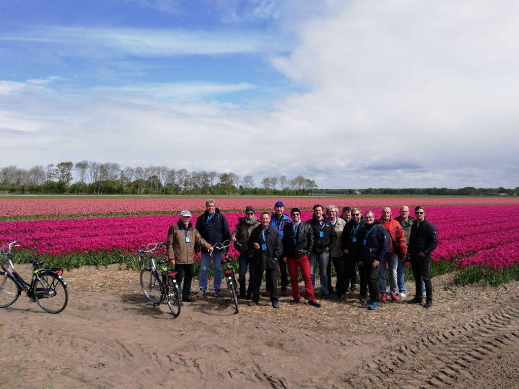 Gruppenfoto am Tulpenfeld