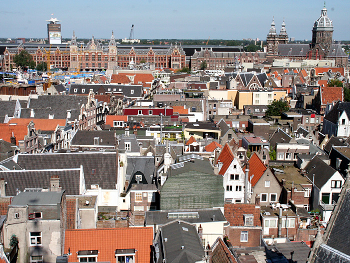 Blick über die Dächer Amsterdams