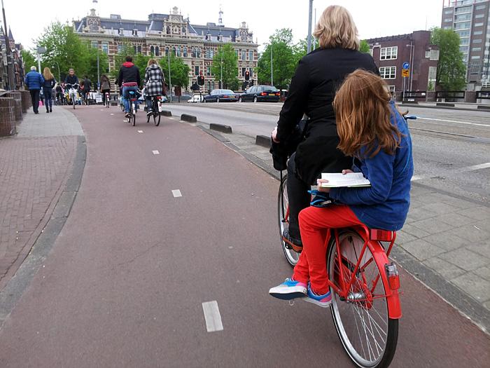 Radfahrer in Amsterdam.